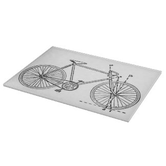 Bicycle Blueprint Cutting Boards