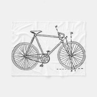 Bicycle Blueprint Fleece Blanket
