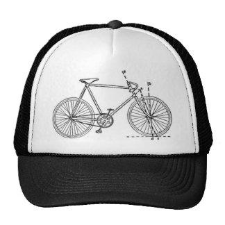 Bicycle Blueprint Trucker Hats