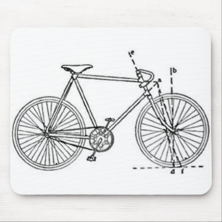 Bicycle Blueprint Mouse Pad