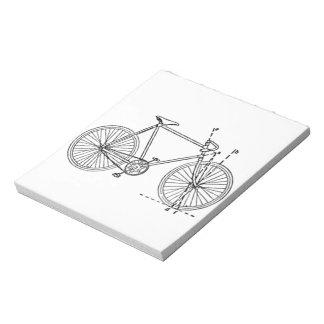 Bicycle Blueprint Notepad