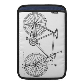 Bicycle Blueprint Sleeve For MacBook Air