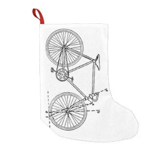 Bicycle Blueprint Small Christmas Stocking