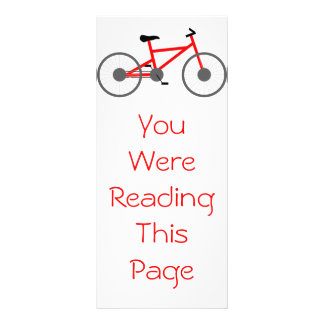 Bicycle Bookmark Template Full Color Rack Card