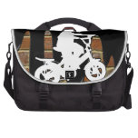 BICYCLE BOY BRICK BACKGROUND PRODUCTS LAPTOP MESSENGER BAG