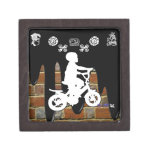 BICYCLE BOY BRICK BACKGROUND PRODUCTS PREMIUM JEWELRY BOXES
