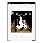 BICYCLE BOY BRICK BACKGROUND PRODUCTS SKINS FOR THE iPad 2