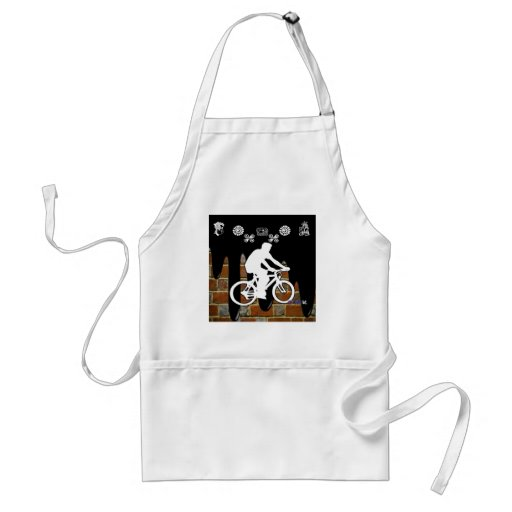 BICYCLE BRICK BACKGROUND PRODUCTS APRON
