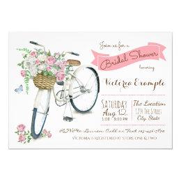 Bicycle bridal shower invitations announcements zazzle bicycle bridal shower invitation filmwisefo Choice Image