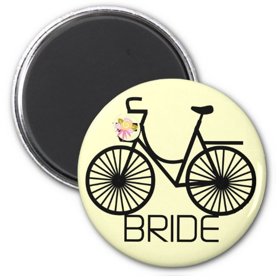 Bicycle Bride Tshirts and Gifts 2 Inch Round Magnet