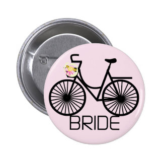 Bicycle Bride Tshirts and Gifts 2 Inch Round Button
