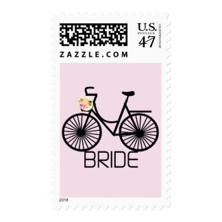 Bicycle Bride Tshirts and Gifts Postage Stamp