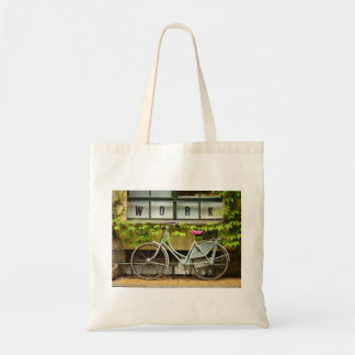 bicycle budget tote bag