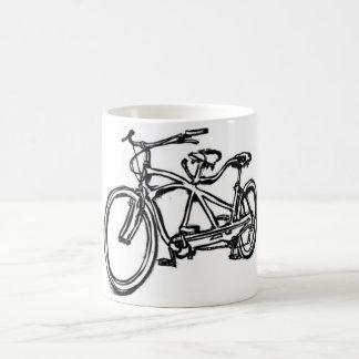Bicycle built for 2 (antique schwinn tandem) bike coffee mug