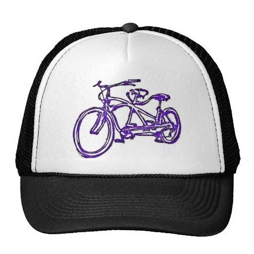 Bicycle built for 2 (antique schwinn tandem) bike trucker hats