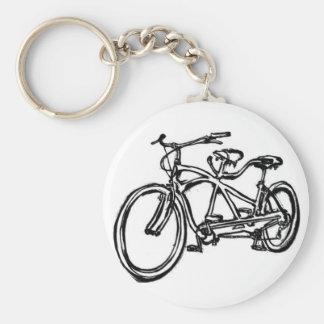 Bicycle built for 2 (antique schwinn tandem) bike keychain