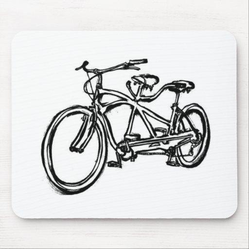 Bicycle built for 2 (antique schwinn tandem) bike mouse pad