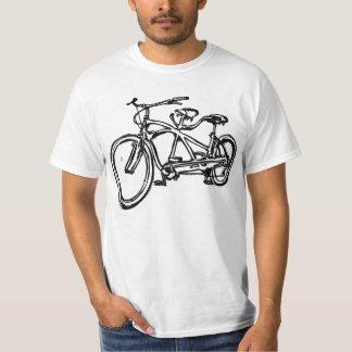 Bicycle built for 2 (antique schwinn tandem) bike t shirt