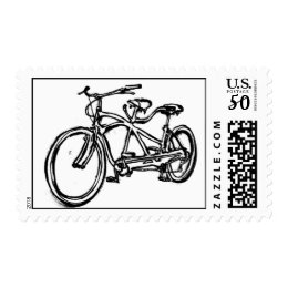 Bicycle built for 2 (antique Schwinn tandem) Postage