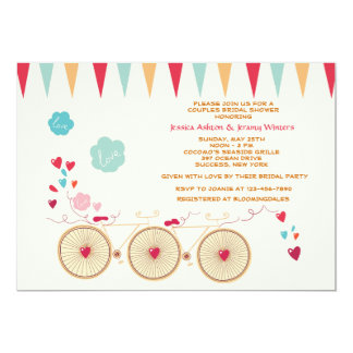 Bicycle Built for Two Invitation