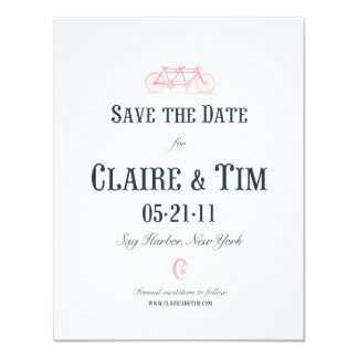 Bicycle Built For Two Save the Date Card