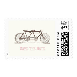 Bicycle Built For Two Save the Date Postage