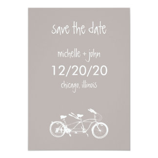 Bicycle Built For Two Save The Date (Sand) Card
