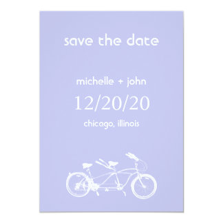 Bicycle Built For Two Save The Date (Violet) Card