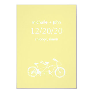 Bicycle Built For Two Save The Date (Yellow) Card