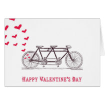 Bicycle Built for Two Valentine's Day Card