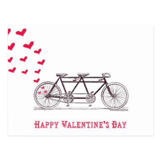 Bicycle Built for Two Valentine's Day Postcard