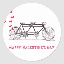 Bicycle Built for Two Valentine's Day Stickers
