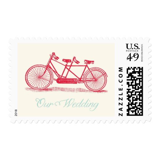 Bicycle Built For Two Wedding Postage