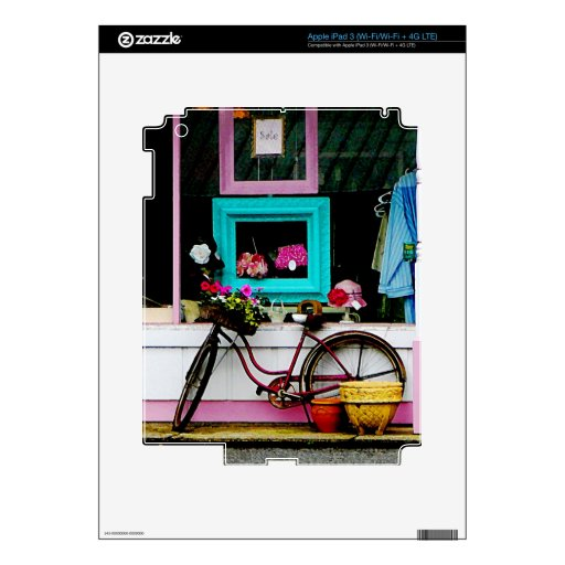 Bicycle By Antique Shop iPad 3 Decal