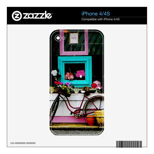 Bicycle By Antique Shop iPhone 4S Skins