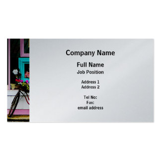 Bicycle By Antique Shop - Platinum Finish Business Card Templates