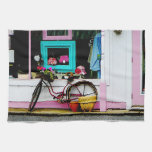 Bicycle By Antique Shop Towel