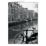Bicycle by Canal Card