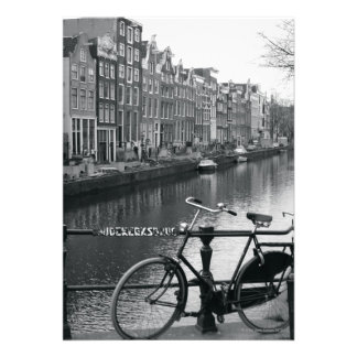 Bicycle by Canal Invitation