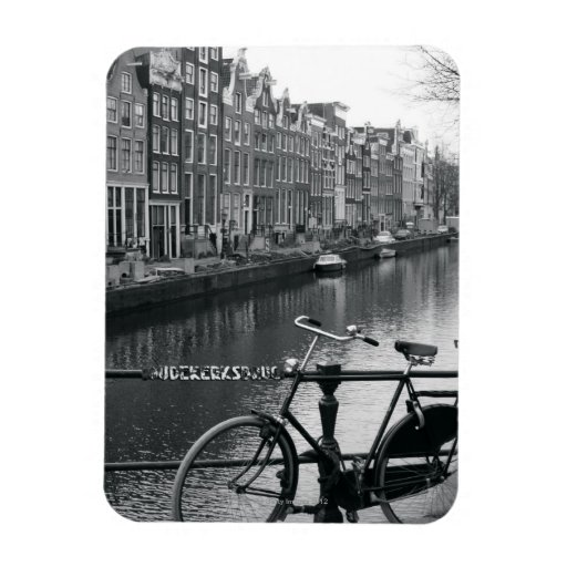 Bicycle by Canal Rectangular Photo Magnet