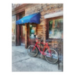 Bicycle By Post Office Poster