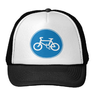 Bicycle Cap Blue Trucker Hat