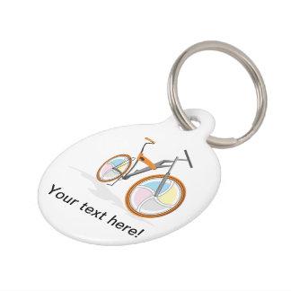 Bicycle cartoon pet nametag