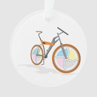 Bicycle cartoon ornament