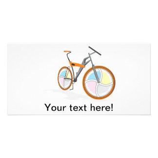 Bicycle cartoon photo card