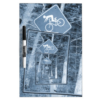 Bicycle Caution Traffic Sign Dry-Erase Board