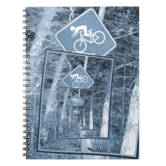 Bicycle Caution Traffic Sign Notebook