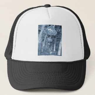 Bicycle Caution Traffic Sign Trucker Hat