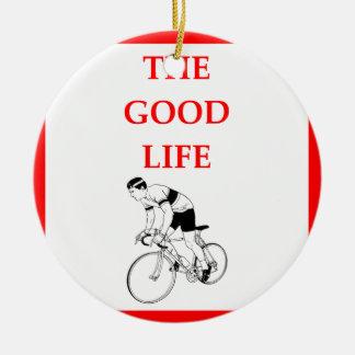 bicycle ceramic ornament