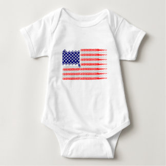 Bicycle Chain Flag USA Baby Bodysuit
